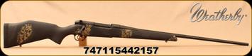"Weatherby - 257WbyMag - Mark V Ultra Lightweight (ULW) - Special Makeup (Custom Shop) - Black fiberglass stock w/Gray and Tan Sponge pattern/Tan Cerakote, 26""Fluted Barrel, Mfg# M19M257WR6O"