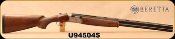 "Beretta - 12Ga/3""/28"" - Silver Pigeon I - O/U - Oil-Finish Walnut/Engraved Receiver/Blued, 10x8 Rib, Mfg# J686312, S/N U94504S"