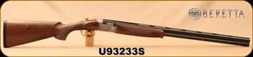"Beretta - 20Ga/3""/28"" - Model 686 Silver Pigeon I - O/U - Walnut Stock/scroll-engraved receiver/Blued Barrels, 6x6Rib, Mfg# J686322, S/N U93233S"