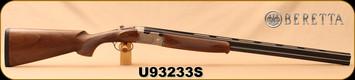"""Beretta - 20Ga/3""""/28"""" - Model 686 Silver Pigeon I - O/U - Walnut Stock/scroll-engraved receiver/Blued Barrels, 6x6Rib, Mfg# J686322, S/N U93233S"""