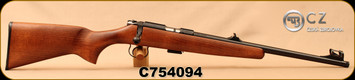 "CZ - 22LR - 455 Scout - American-Style Beechwood Stock/Blued, 16.5""Threaded(1/2x28)Barrel, Hooded Front Sight, Integrated 11mm Dovetail, Mfg# 02135, S/N C754094"