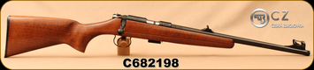 """CZ - 22LR - 455 Scout - American-Style Beechwood Stock/Blued, 16.5""""Threaded(1/2x28)Barrel, Hooded Front Sight, Integrated 11mm Dovetail, Mfg# 02135, S/N C682198"""