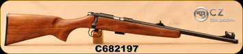 """CZ - 22LR - 455 Scout - American-Style Beechwood Stock/Blued, 16.5""""Threaded(1/2x28)Barrel, Hooded Front Sight, Integrated 11mm Dovetail, Mfg# 02135, S/N C682197"""