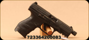 "Walther - 9mm - PPQ M2 Navy SD - Semi Auto Handgun - Black Polymer Grips/Tenifer coated slide and 4.6"" Threaded Barrel, Three Dot Sights, Mfg# 2796082"