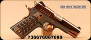 "Ruger - 9mm - SR1911 Commander - Single Action Semi Auto - Black/Rose Gold Chevron w/Ruger Logo/Rose Gold PVD Finish, 4.25"" Barrel, Novak 3-Dot Sights, TALO Exclusive, Mfg# 6768"