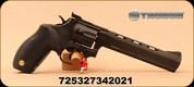 "Taurus - 17HMR - Model 17 Tracker - Double/Single Action Revolver - Black Rubber Grips/Blued, 6.5""Barrel, Adjustable Sights, Mfg# 2-170061"