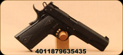 "Colt/Walther - 22LR - Gold Cup 1911 A1 - Semi-Auto Pistol - Black Finish, 5""Barrel, Adjustable Sight, Mfg# 517.00.03"