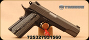 "Taurus - 45ACP - PT 1911 - Single Action Semi Automatic Pistol - Custom VZ Grip/Grey Cerakote Slide Finish, 5""Barrel, Novak Style Sights, Mfg# 1-191101G-VZ"