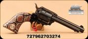 "Heritage - 22LR - Rough Rider - 6-shot revolver - SA - Synthetic Snake Skin Grips/Blued, 4.75""Barrel, Mfg# RR22B4-SNK"
