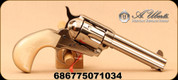 "Uberti - 45LC - Model 1873 Cattleman - Doc - Pearl Grip/Full Nickel-Plated Steel, 4.75""Barrel, 6-shot, fluted cylinder, Mfg# 356714, Product# 410/N00/G49"