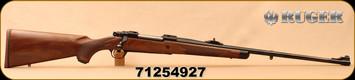 """Ruger - 9.3x62 - M77 Hawkeye African - Walnut w/ Ebony Forend Tip/Satin Blued, 24""""Barrel, 1:10""""Twist, Mfg# 47195, S/N 71254927"""