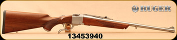 "Ruger - 45-70Govt - No K1-S - Medium Sporter - American Walnut/Brushed Stainless, 22"" Barrel, Open Sights, Alexander Henry Forearm, Mfg#21324, S/N 13453940"