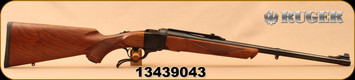 "Ruger - 9.3x74R - No.1S Medium Sporter - Single-Shot Centerfire Rifle - American walnut stock/Blued, 22"" Barrel, Alexander Henry-style forend, Mfg# 11319, S/N 13439043"