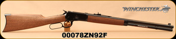 "Winchester - 44-40Win - Model 1892 Short - Lever Action Rifle - Grade I Black Walnut Stock/Blued, 20"" Barrel, 10 Rounds, Mfg# 534162140, S/N 00078ZN92F"