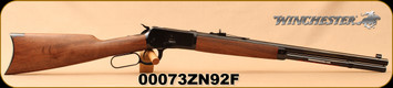 "Winchester - 44-40Win - Model 1892 Short - Lever Action Rifle - Grade I Black Walnut Stock/Blued, 20"" Barrel, 10 Rounds, Mfg# 534162140, S/N 00073ZN92F"