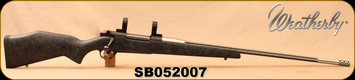 "Used - Weatherby - 338-378WbyMag - Mark V - Black w/Grey Web Synthetic Stock/Two-Tone Spun Stainless w/ Graphite Black Cerakote, 26""Barrel(28""w/Accubrake), c/w 30mm rings"