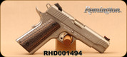 "Used - Remington - 45ACP - 1911 R1S - Brown/Grey Stippled Grips/Stainless, 4.25""Barrel, 2 magazines - In original case"