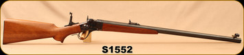 """Consign - Sharps - 45-70Govt - Model 1875 Old Reliable Long Range Rifle - Single Shot Smokeless Powder - Walnut Stock/Blued, 28""""Heavy Badger Barrel, 1:15""""Twist, Open Sights - Only 40 rounds fired - In Cimarron Case"""