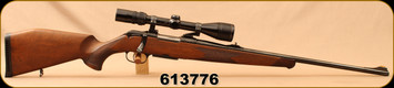 "Consign - Krico - 223Rem - Model 600 - Walnut Stock/Blued, 24""Barrel, 4 round detachable magazine, c/w EAW Rings, Bausch & Lomb 4-12 riflescope, duplex reticle - Only 100 rounds fired"