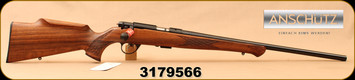 "Anschutz - 22LR - 1712 Silhouette Sporter - Walnut Monte Carlo Stock/Blued, 22""Barrel, two-stage trigger, Mfg# 007594, S/N 3179566"