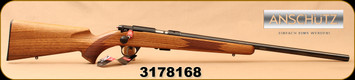"Anschutz - 22LR - 1710 HB Walnut Classic - Walnut Monte Carlo Stock/Blued, 23""Heavy Barrel, 5109 two-stage trigger, Mfg# 013297, S/N 3178168"