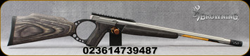 """Browning - 22LR - Buck Mark Target Stainless Muzzle Brake Rifle - Semi-Auto - Grey Laminate Target Stock/Stainless, Fluted 18.4""""(1/2-28) Threaded Barrel, Mfg# 021046202"""