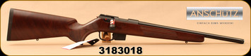 "Anschutz - 22LR - 1761 D HB G-20 Walnut Clasic - Bolt Action Rimfire Rifle - Walnut Classic Hunting Stock/Blued, 18""Threaded(½""-20) Barrel, Mfg# 014633, S/N 3183018"