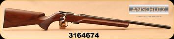 "Anschutz - 22WMR - 1516 D HB Beavertail - Walnut Beavertail Stock/Blued, 23""Heavy Barrel, Single-Stage Trigger, Mfg# 013576, S/N 3164674"