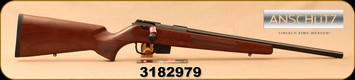 "Anschutz - 17HMR - 1761 D HB Classic - Bolt Action Rifle - Walnut Classic Stock/Blued, 20.25""Barrel, single-stage trigger, 5 round detachable magazine, Mfg# 014538, S/N 3182979"