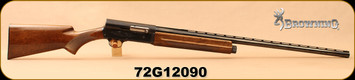 "Consign - Browning - 12Ga/2.75""/29"" - A5 Light Twelve - Grade 2 Walnut Stock/Engraved Receiver/Blued, Vent Rib"