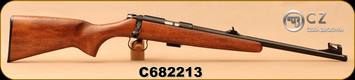 """CZ - 22LR - 455 Scout - American-Style Beechwood Stock/Blued, 16.5""""Threaded(1/2x28)Barrel, Hooded Front Sight, Integrated 11mm Dovetail, Mfg# 02135, S/N C682213"""