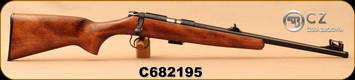 "CZ - 22LR - 455 Scout - American-Style Beechwood Stock/Blued, 16.5""Threaded(1/2x28)Barrel, Hooded Front Sight, Integrated 11mm Dovetail, Mfg# 02135, S/N C682195"