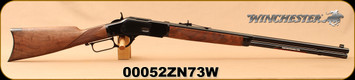"Winchester - 44-40Win - Model 1873 Deluxe Sporter - Lever Action Rifle - Grade III Walnut/Polished Blued, 24 1/4""Half Octagon/Half Round Barrel, Button Rifled, Crescent Butt Plate, Mfg# 534274140, S/N 00052ZN73W - Consecutive S/N Available!"