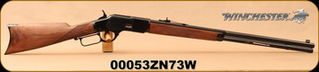 "Winchester - 44-40Win - Model 1873 Deluxe Sporter - Lever Action Rifle - Grade III Walnut/Polished Blued, 24 1/4""Half Octagon/Half Round Barrel, Button Rifled, Crescent Butt Plate, Mfg# 534274140, S/N 00053ZN73W - Consecutive S/N Available!"