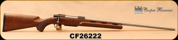 "Used - Cooper - 6.5x284 -  M52 Montana Varminter, Walnut Vented Stock/Stainless, 26""Barrel, only 200 rounds fired"