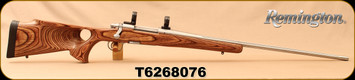 "Used - Remington - 300WM - Model 700 SFLM - Brown Laminate Thumbhole Stock/Stainless, 26""Fluted Barrel, Detachable Magazine, c/w 30mm rings - Only 150 rounds fired"