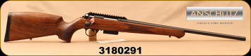 "Anschutz - 17Hornet - 1771 Walnut German - Bolt Action Rifle - Walnut German-Style Stock/Blued, 23""Barrel, Two-Stage 5098/71 Trigger, Rail, Mfg# 013206, S/N 3180291"