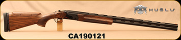 "Huglu - 12Ga/2.75""/32"" - Model HT-14 - Grade 3 Select Turkish Walnut Adjustable Stock/Black Receiver/Chrome-Lined Barrels, Ejectors, Vent Rib, Adjustable Trigger, SKU# 8681715396583, S/N CA190121"