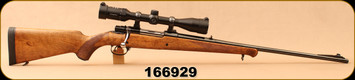 """Consign - Husqvarna - 30-06Sprg - 1600 Lightweight - Walnut Hand checkered Stock/Blued, 24""""Barrel, Glass Bedded, All work Professionally done by Gunsmith David Henry - Only 75 rounds fired - c/w Zeiss Conquest, 3-9x40mm, Duplex reticle"""