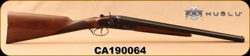 "Huglu - 12Ga/3""/20"" - HRZ - SxS Hammer gun - Turkish Walnut English Grip/Case Hardened/Blued, Chrome-Lined barrels, HRZ Hammer, SKU# 8681744308946, S/N CA190064"