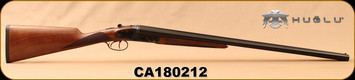 "Huglu - 12Ga/3""/28"" - 201A - SxS - Turkish Walnut English Straight Stock/Engraved Case Hardened Receiver/Blued barrels, Double Trigger, 5pc. Mobile Choke System, SKU# 8681715392011, S/N CA180212"