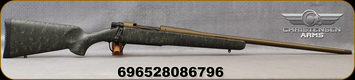 "Christensen Arms - 300PRC - Mesa - Bolt Action Rifle - Sporter Green w/Black & Tan Webbing Carbon Fiber Composite Stock/Burnt Bronze Cerakote, 24""Threaded Barrel, 1:8 Twist, Mfg# 801-01024-00"
