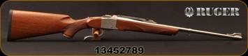"Ruger - 30-30Win - No.K1A Light Sporter - American Walnut Stock w/Alexander Henry Forend/Brushed Stainless, 22""Barrel, Mfg# 21317, S/N 13452789"