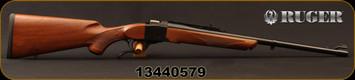 "Ruger - 9.3x62Mauser - No.1S Medium Sporter - Single Shot Rifle - American Walnut Stock/Alloy Steel Blued, 22""Barrel, Adjustable Rear Sight, Mfg# 01371, S/N 13440579"