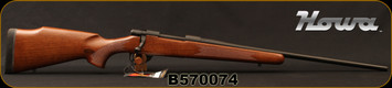 "Howa - 6.5Creedmoor - M1500 Hunter American - Bolt Action Rifle - Italian Walnut Stock/Matte Blued, 22""Barrel, 1:9""Twist, 4+1 rounds, Mfg# HHR52501, S/N B570074"