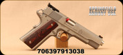 """Springfield - 45ACP - 1911 Range Officer -Single Action - Cocobolo Grip/Stainless Steel, 5""""Barrel, Mfg# PI9124L"""