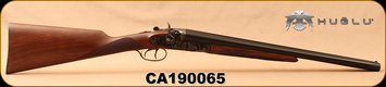 "Huglu - 12Ga/3""/20"" - HRZ - SxS Hammer gun - Turkish Walnut English Grip/Case Hardened/Blued, Chrome-Lined barrels, HRZ Hammer, SKU# 8681744308946, S/N CA190065"