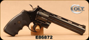 "Consign - Colt - 357Mag - Python - Double-Action Revolver - Black checkered rubber grips/Blued, 6""Barrel, c/w spare wood grips"