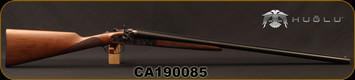 "Huglu - 12Ga/3""/30"" - 201HRZ - SxS Double Trigger - Turkish Walnut English Stock/Case Hardened/Blued Barrels, 5pc. Ventus Mobile Chokes, SKU# 8681744308939, S/N CA190085"