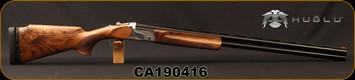 "Huglu - 12Ga/2.75""/32"" - Model HT-14 - Grade 2 Select Turkish Walnut Adjustable Stock/Silver Receiver/Chrome-Lined Barrels, Ejectors, Vent Rib, Adjustable Trigger, SKU# 8682109400015, S/N CA190416"